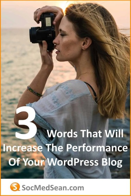 Three words that will help you increase the speed and performance of your WordPress blog