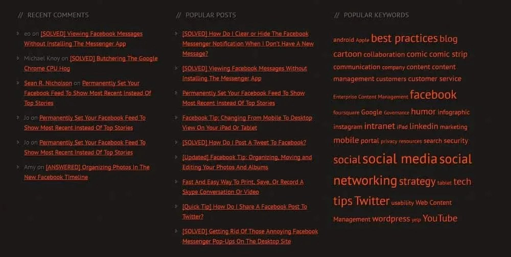 My related posts widget no longer uses a plugin, but simple html