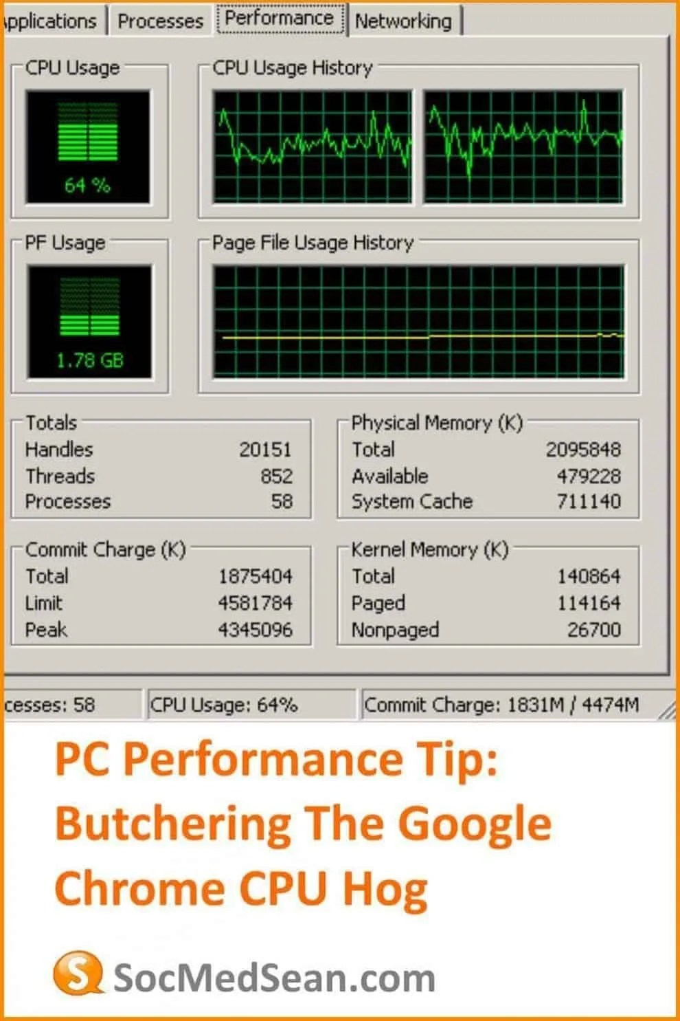 PC Performance Tip When Chrome Browser Is Using Excessive CPU resources