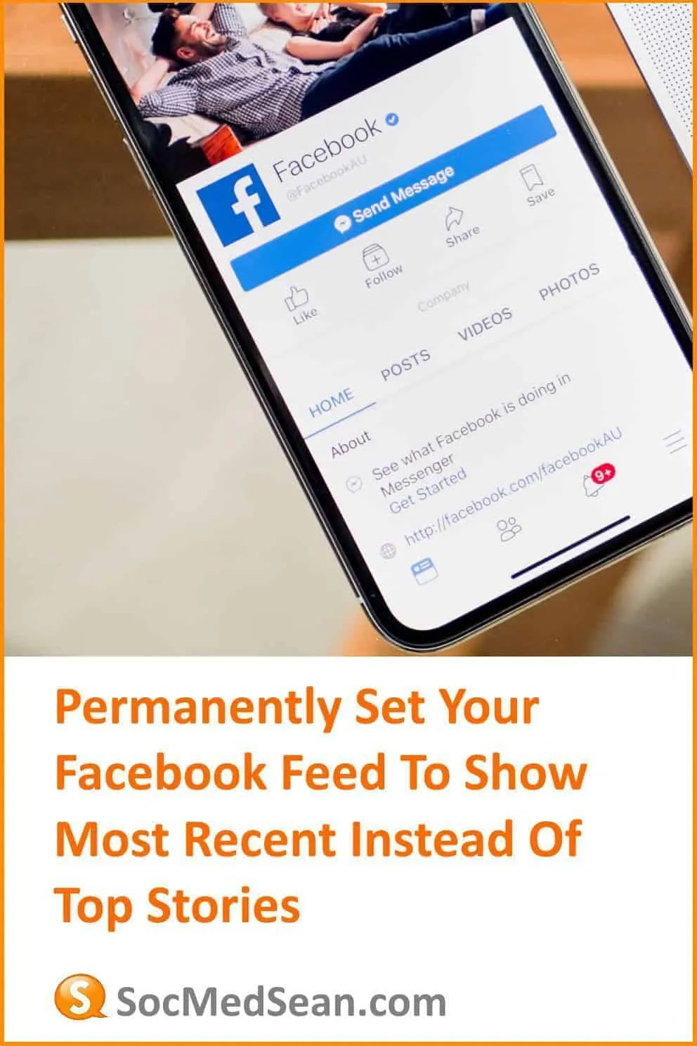 Tips on how to set your Facebook feed to show most recent instead of top stories