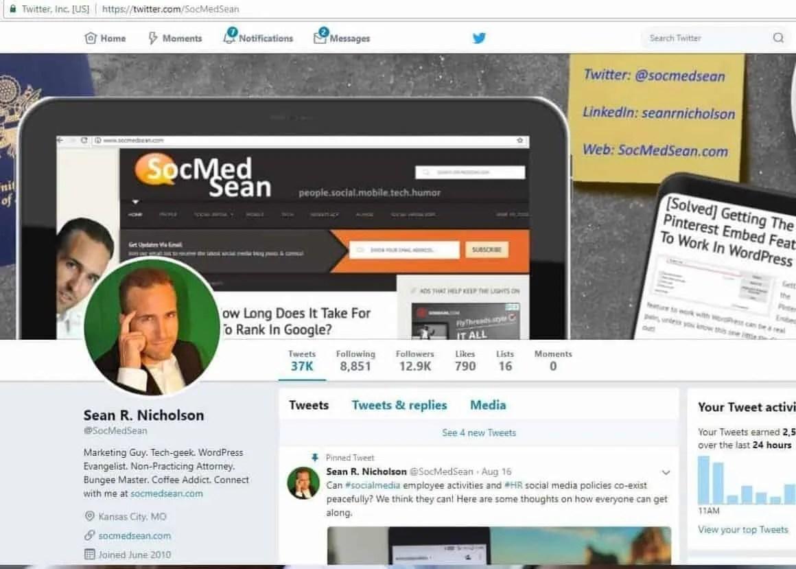 My SocMedSeanTwitter Feed Is Unlocked - Give It A Follow!