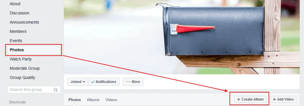 You can bulk or batch upload photos to a Facebook groups photo album