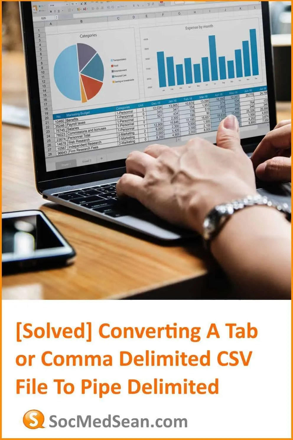 Steps to convert a comma or tab delimited excel spreadsheet or csv file to a tab delimited format