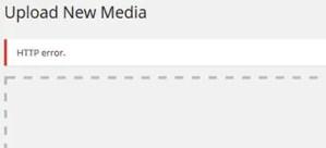 HTTP Error uploading images to WordPress