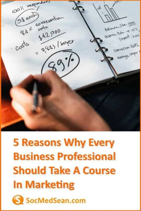 5 Reasons Why Every Business Professional Should Take A Course In Marketing