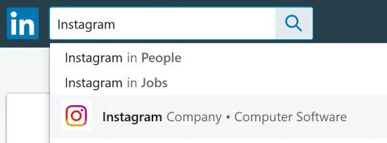 Search LinkedIn to see if you know anyone who works at Instagram