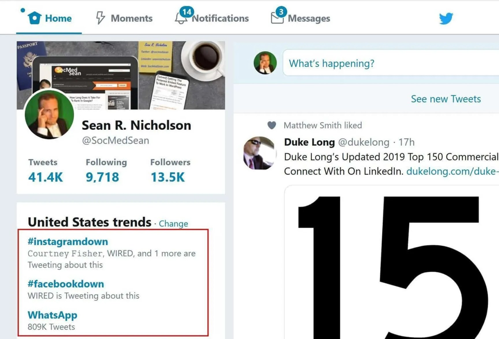 Twitter hashtags can tell you when Facebook, Instagram, or WhatsApp are down