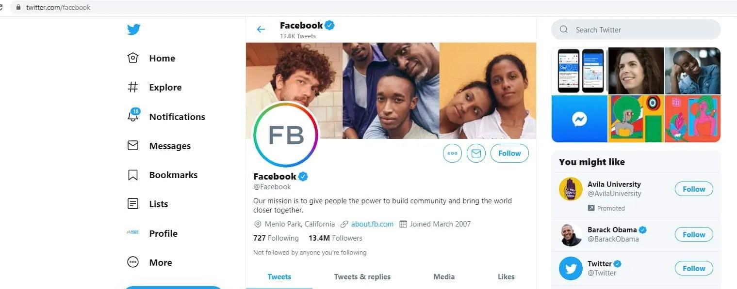 Try tweeting Facebook if you need help