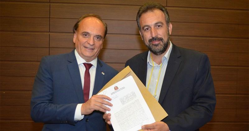 Secretário Estadual de Justiça e Cidadania, Paulo Dimas Mascaretti e o prefeito de Socorro, André Bozola
