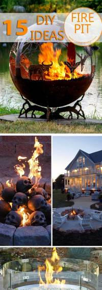 15 Creative Fire Pit DIY ideas for Backyard | Creative Ideas