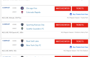 Wednesday night MLS