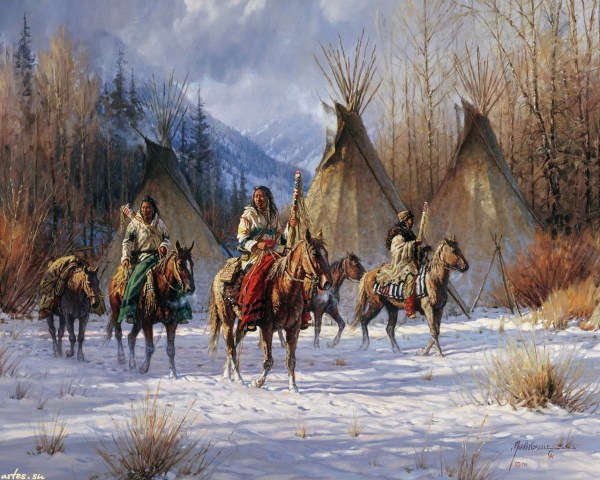 Native American Indian Winter