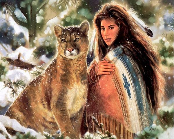 Native American Art Maija - Desktop Wallpaper