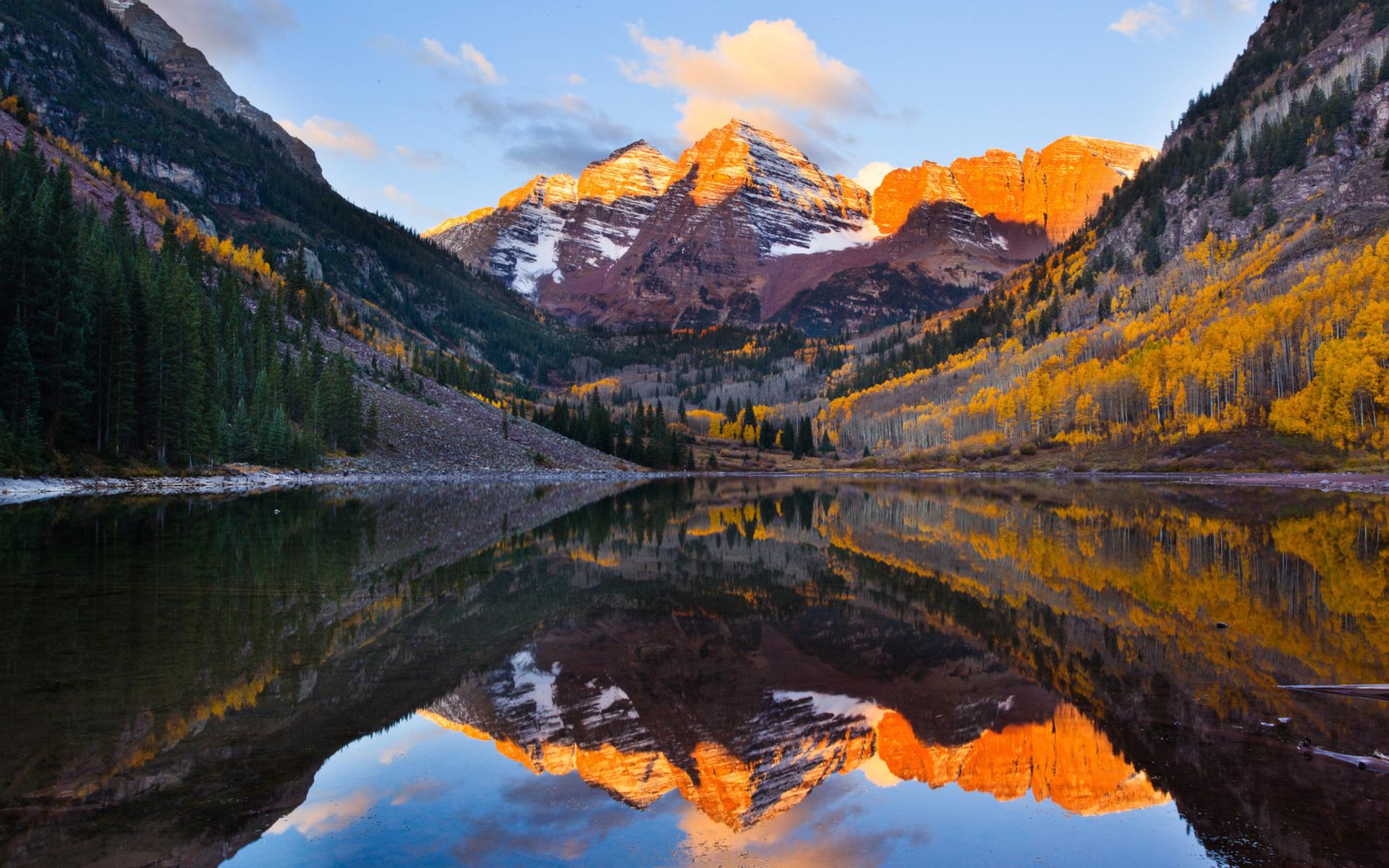 Fall Mountain Scenes Wallpaper Mirror Reflection By Yogi Arora Desktop Wallpaper