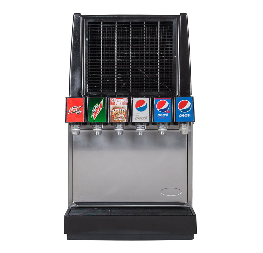 ce00109  6Flavor Counter Electric Soda Fountain System