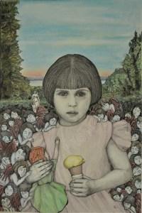 La niña, ink and graphite, 42x59,4cm