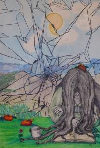 Broken dreams, 42x59,4cm, ink, graphite