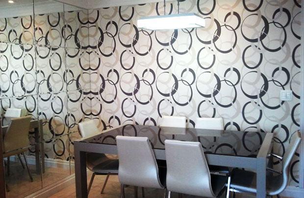 Papeis de parede para sala de estar belos e modernos  S