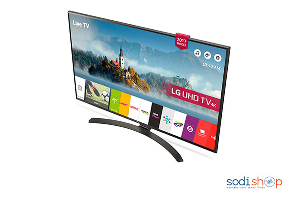 televiseur led smart tv 49 pouces 123 cm uhd 4k active hdr webos 3 5 ultra surround 49uj634v lg0017