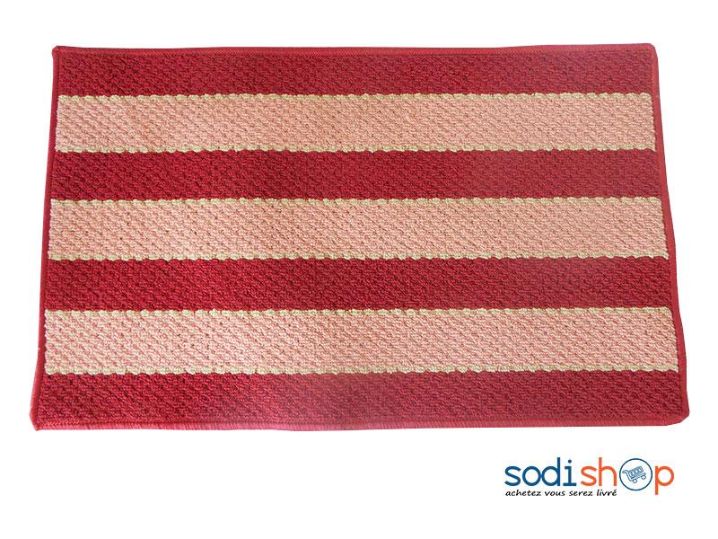 essuie pied d exterieur tapis en synthetique couleur rouge orange mk00101
