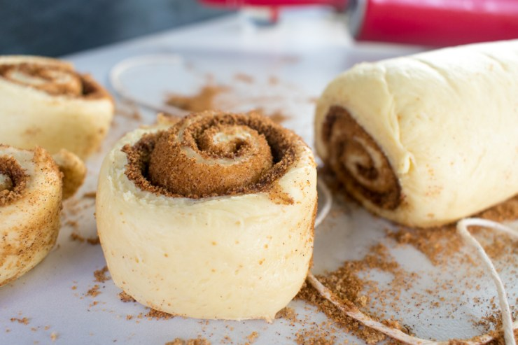 Low Sodium Cinnamon Rolls with Cream Cheese Frosting