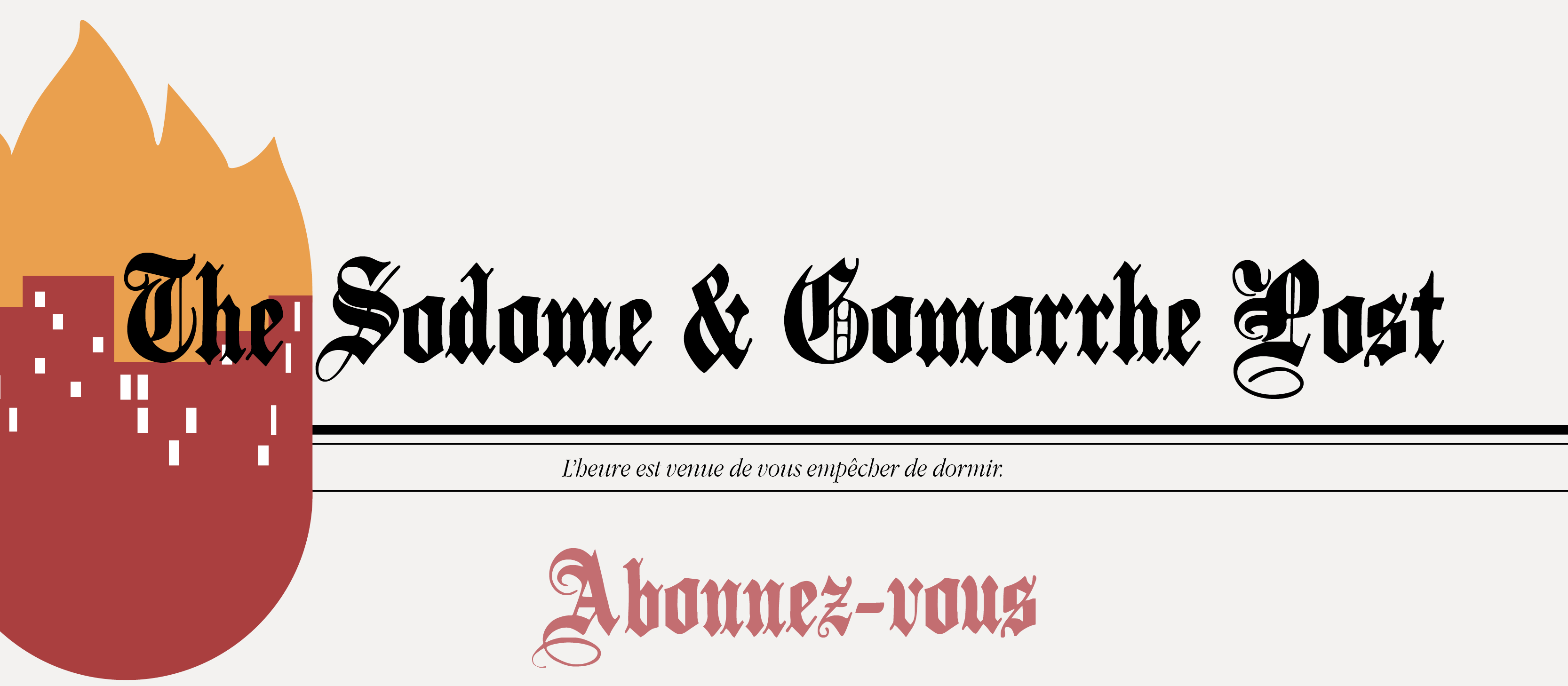 sodome et gomorrhe newsletter