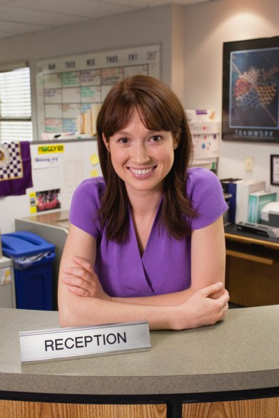 "THE OFFICE -- ""Gossip"" Episode 601 -- Pictured: Ellie Kemper as Kelly Erin Hannon -- NBC Photo: Chris Haston"