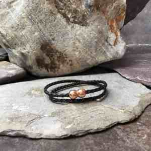 3mm Braided Leather Double Wrap Bracelet