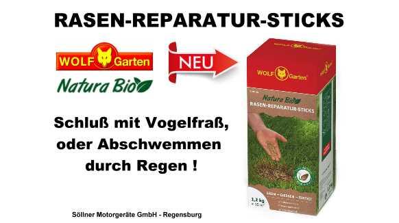 Wolf Garten Rasen Reparatur Sticks U2013 Schluß Bei Rasensaamen Mit Vogelfraß  Und Abschwemmen Durch Regen !