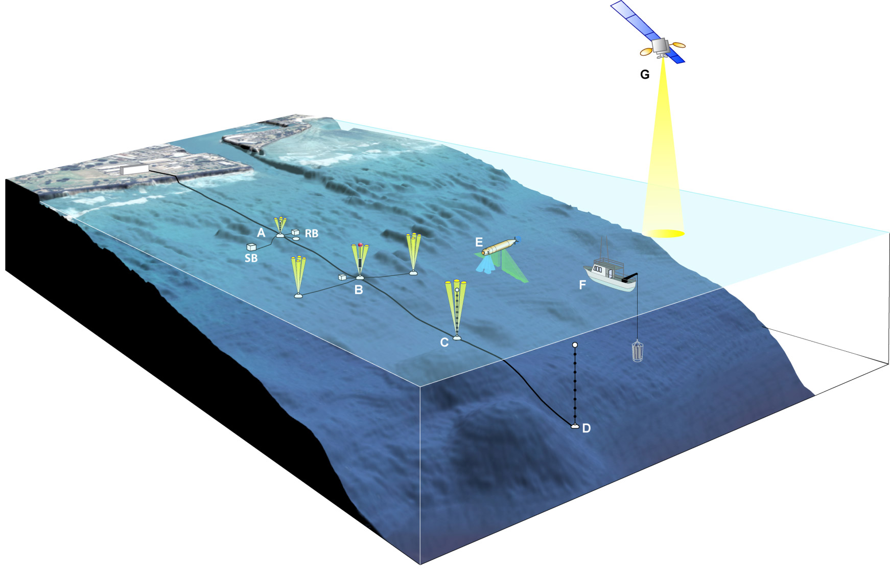 hight resolution of 3 d diagram of kilo nalu offshore observatory