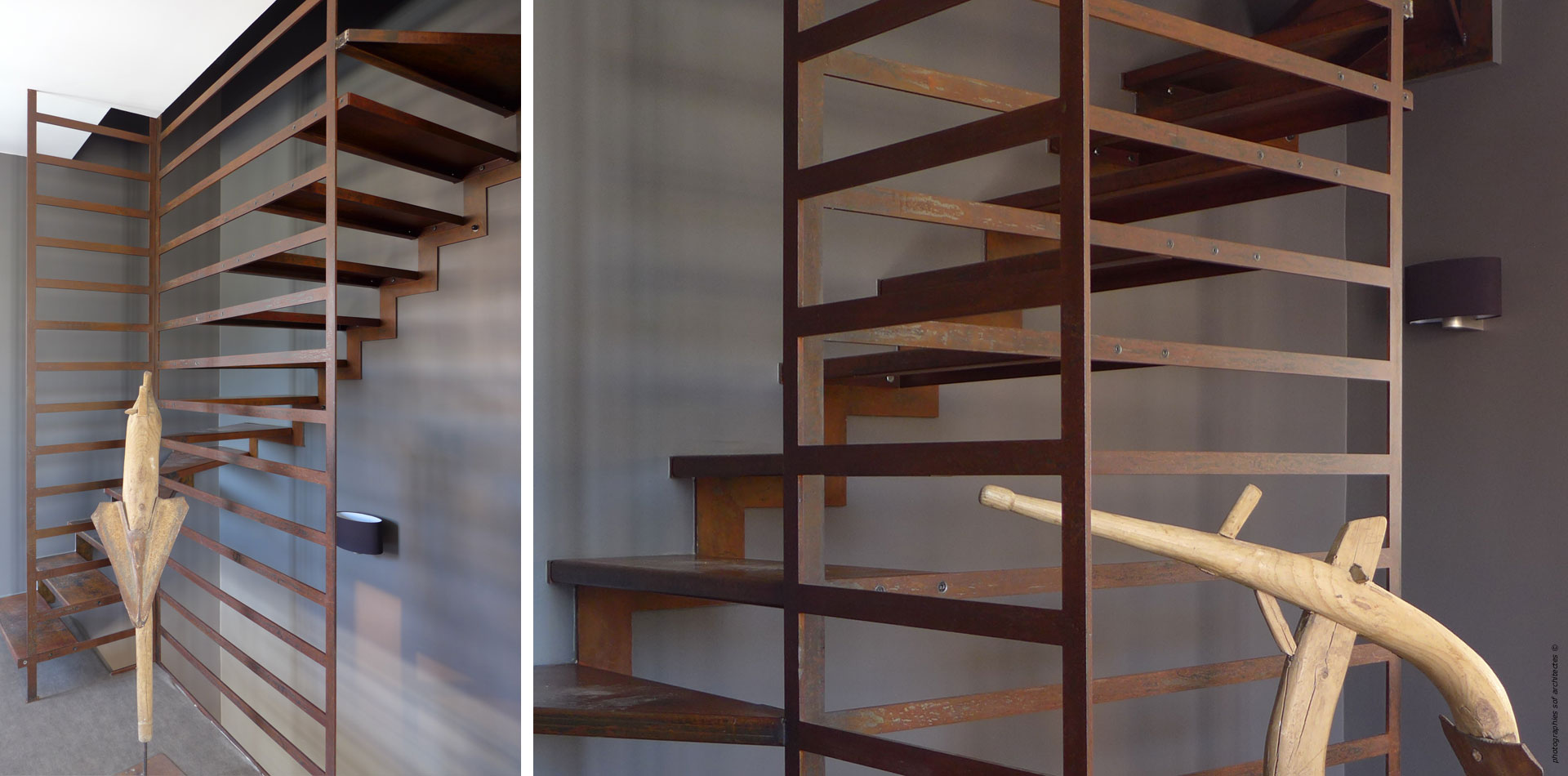 SOF Architectes  Escalier CortenSOF Architectes