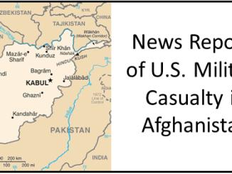 U.S. casualty in Afghanistan