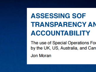 """Paper """"Assessing SOF Transparency and Accountability"""" by Jon Moran, Oxford Research Group, July 2016"""
