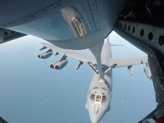 B-52 Refueling in Mid-Air
