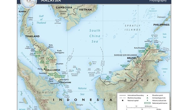 Map Malaysia - CIA