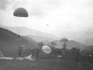 World War II UW - Parachute resupply of Jedburgh team during World War II (photo CIA archives)