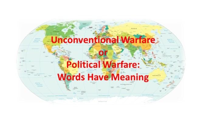 UW or Political Warfare