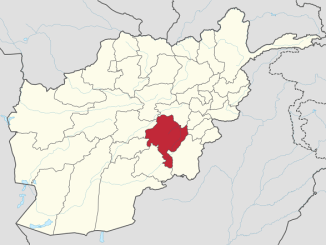 Map Ghazni Province Afghanistan. https://en.wikipedia.org/wiki/Ghazni_Province#/media/File:Ghazni_in_Afghanistan.svg