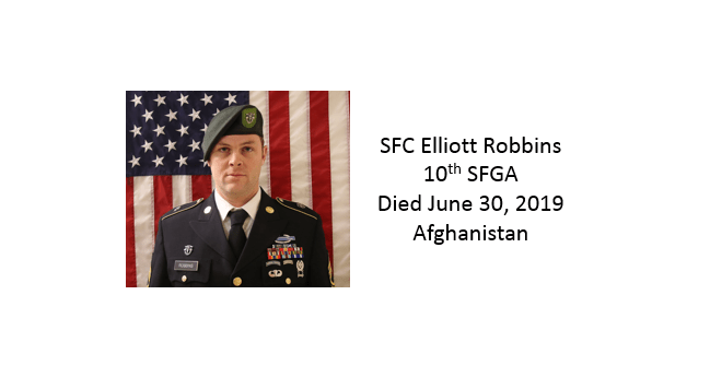 SFC Elliott Robbins, 10th Special Forces Group, Afghanistan