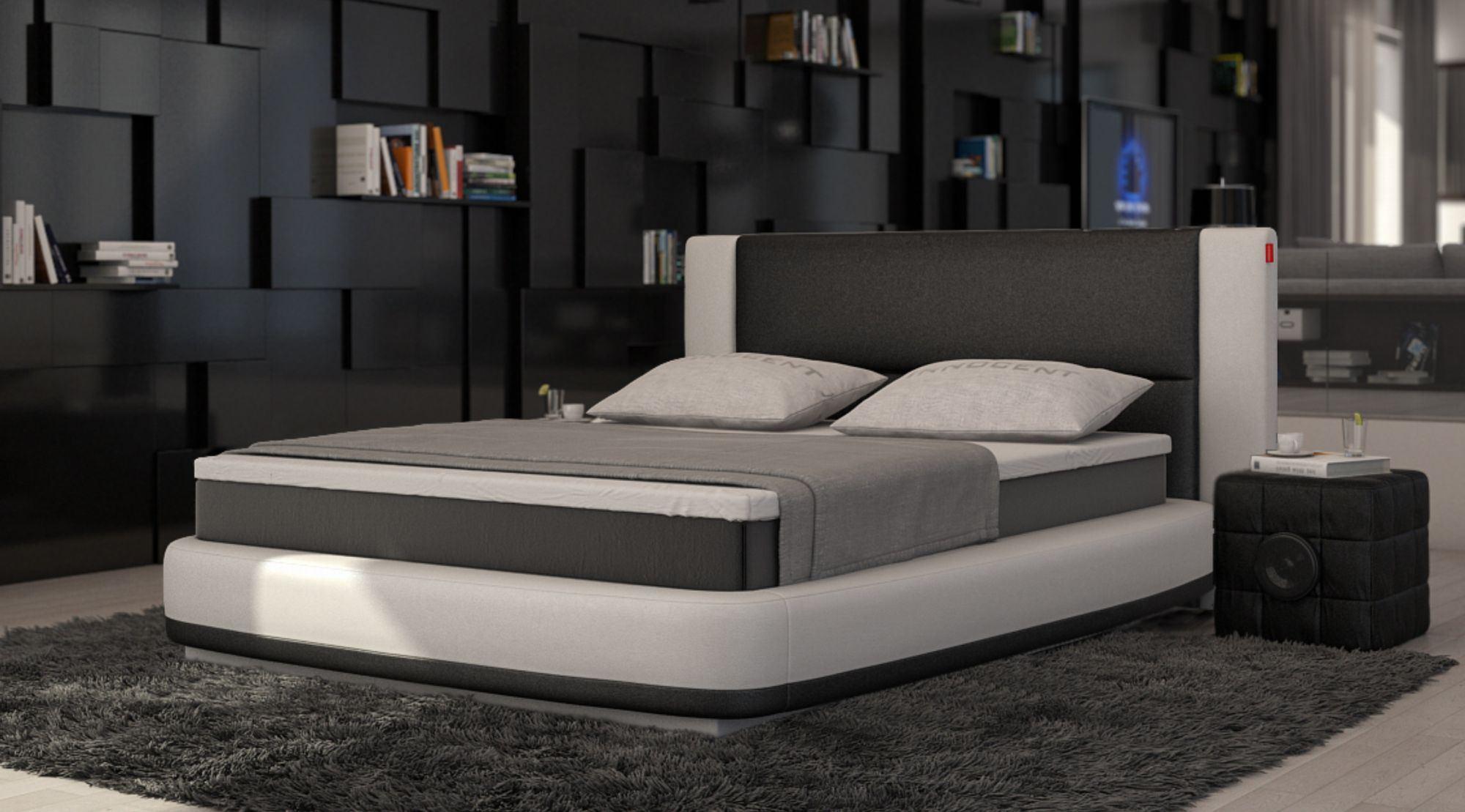 Boxspringbett AQUILA Design Luxus Polsterbett bequemes Designerbett Zweifarbig  eBay
