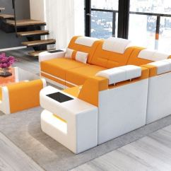 Orange Sofas Ebay Leather Sofa Manufacturers India Stoffcouch Eck Wohnlandschaft Como L Led Design