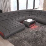 Luxury Sectional Sofa Concept Xl Design Couch Big Led Lights Ottoman Ebay