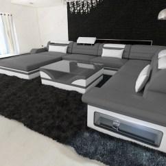 Mega Sofa Milan Leather Ledersofa Wohnlandschaft Mezzo Xxl Designer Couch ...