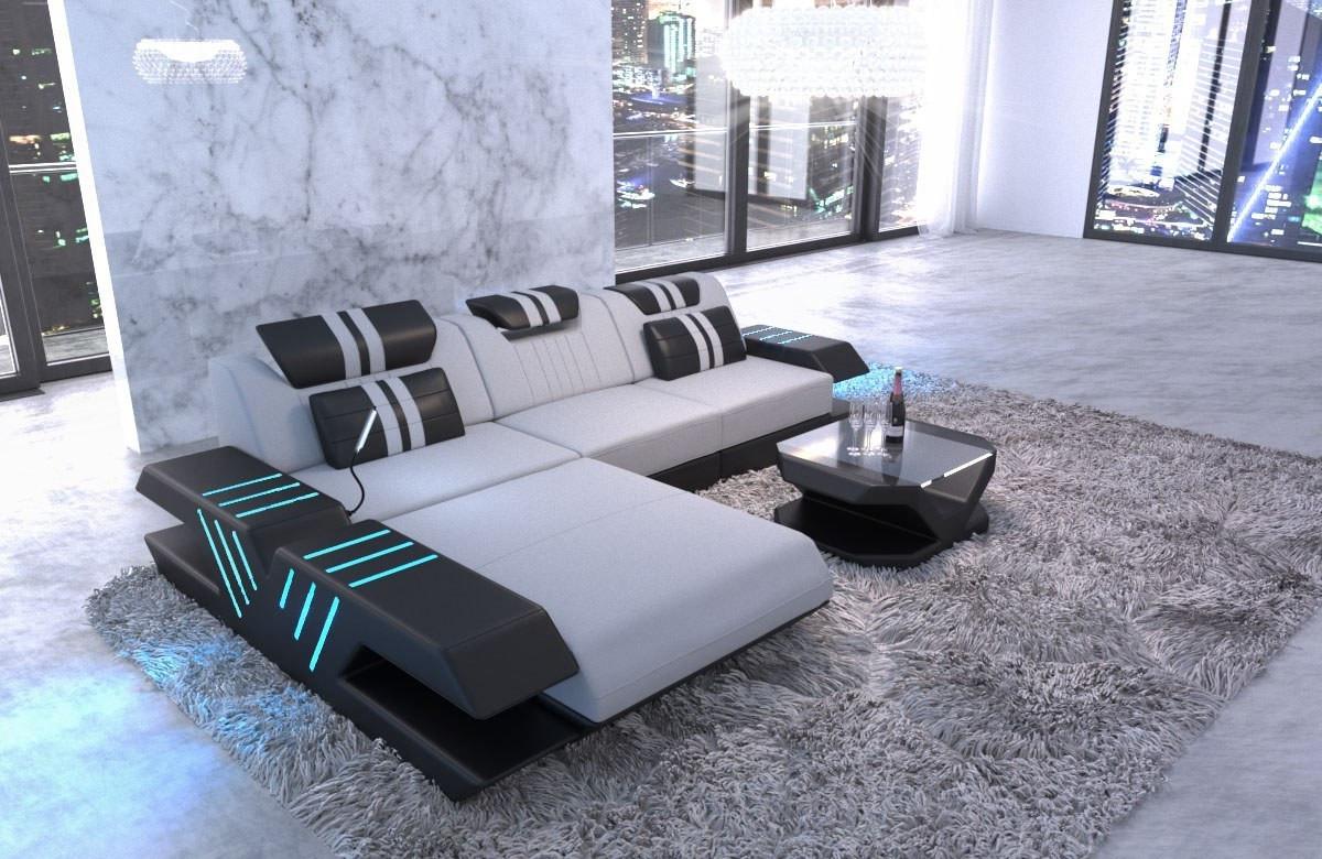 Chaiselongsofa Beverly Hills L Form Stofsofa Moderne Design Med Led Og Usb Sofadreams