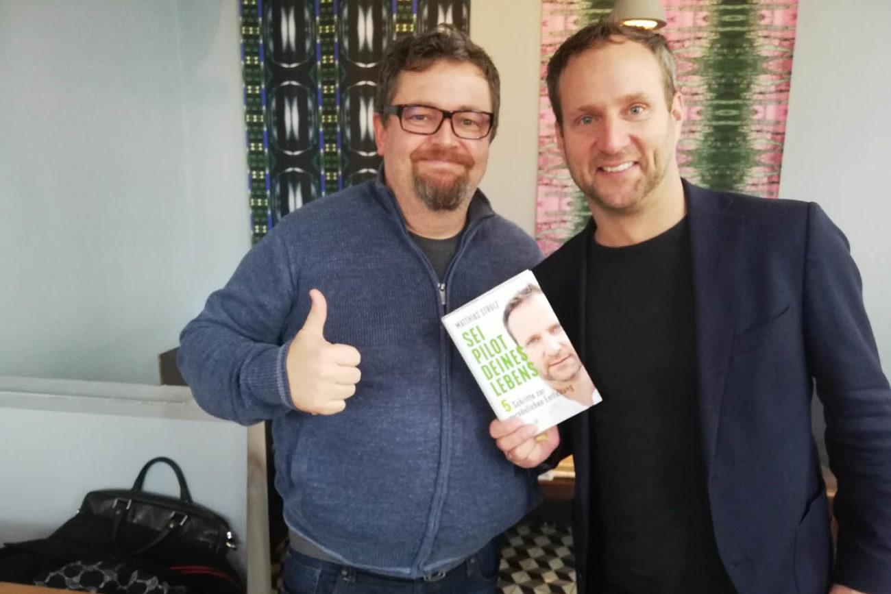 Matthias Strolz und der SOFA-Chefredakteur
