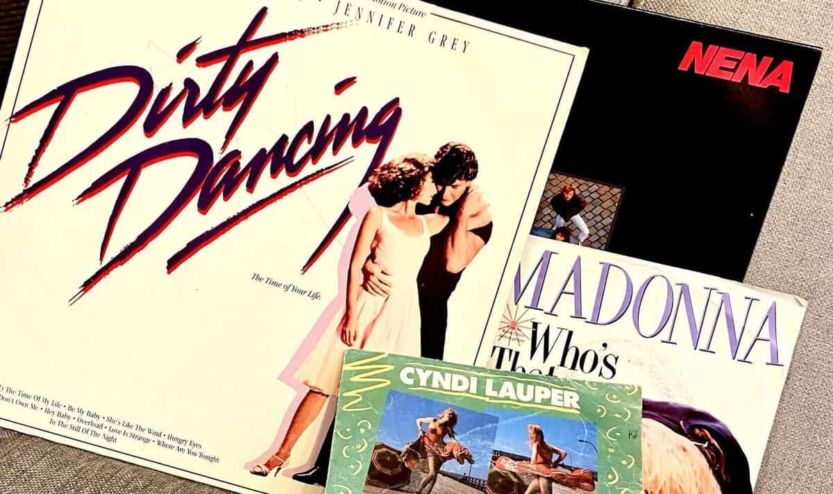 Alte Vinyls von Madonna, Nena, Dirty Dancing und Cyndi Lauper