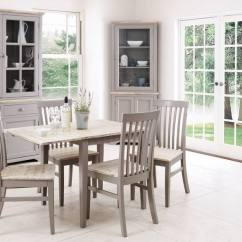 Grey Kitchen Table And Chairs All Weather Rattan Garden Statement Furniture Florence Dove Matt Painted Washed Finish