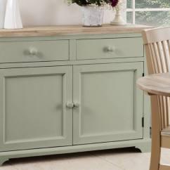 Square Pedestal Kitchen Table Farmhouse Cabinets Statement Furniture - Florence Sage Green Matt Painted ...