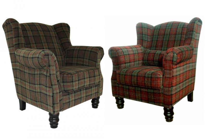 traditional wingback chair eames herman miller xyz william wing style velvet plaid in 3