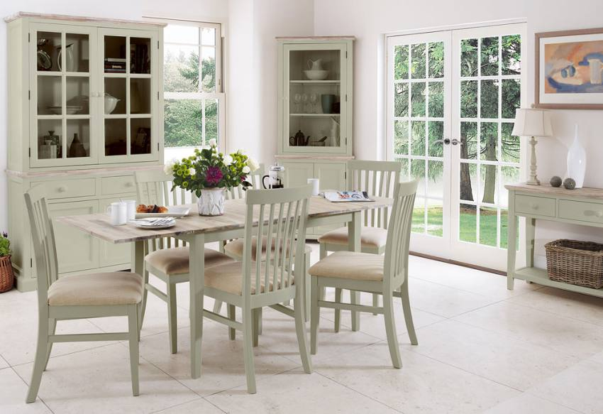 square pedestal kitchen table countertop options statement furniture - florence sage green matt painted ...